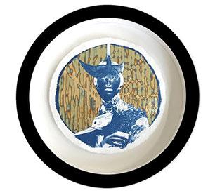 Chloe McCarrick - Amelia The Aviatrix - wall art piece in a round frame