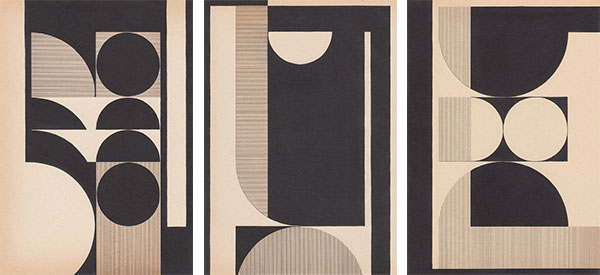 Louis Reith home art collection of geometric pieces