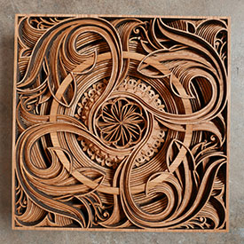 Gabriel Schama wood laser cut wall art with natural color